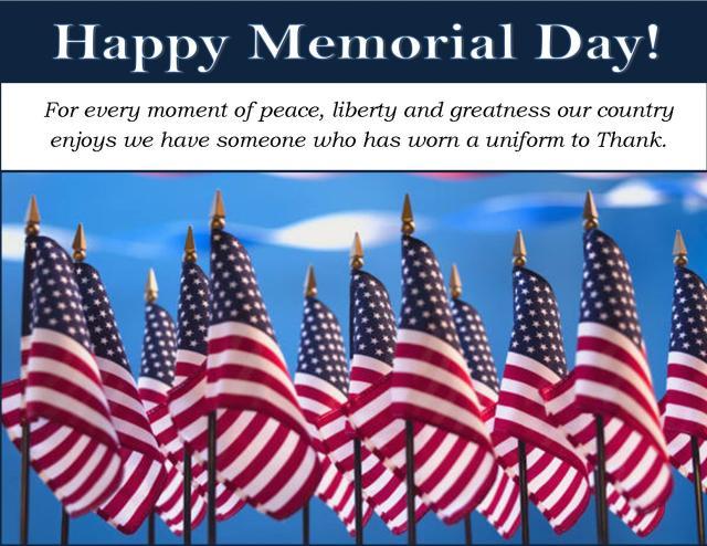 Memorial day 2014 date